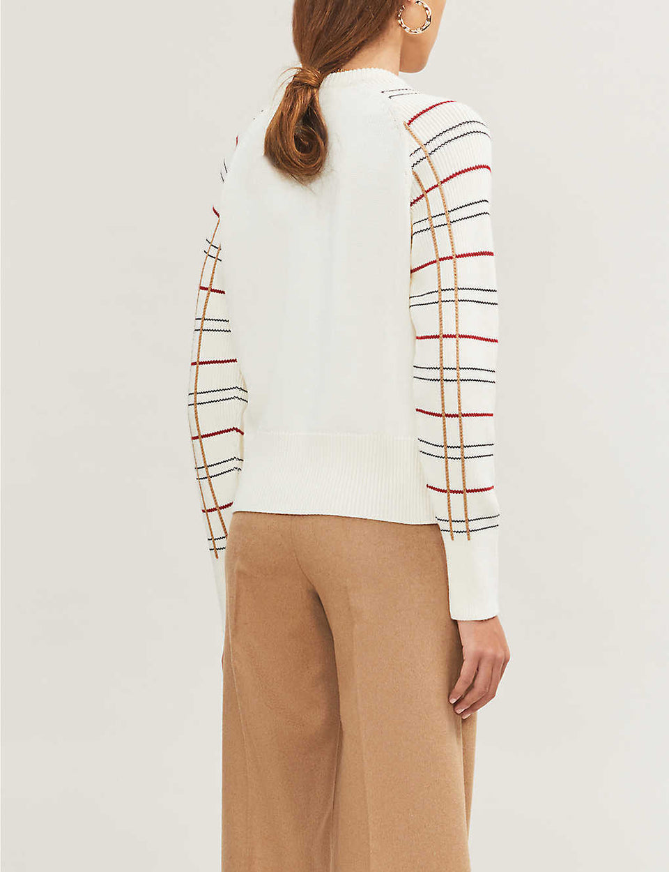 Majeur check-print wool-blend jumper