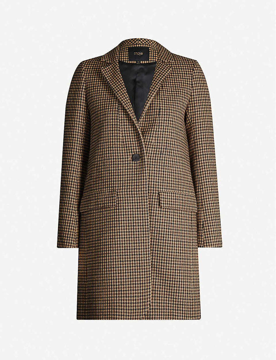 Galro checked wool-blend coat