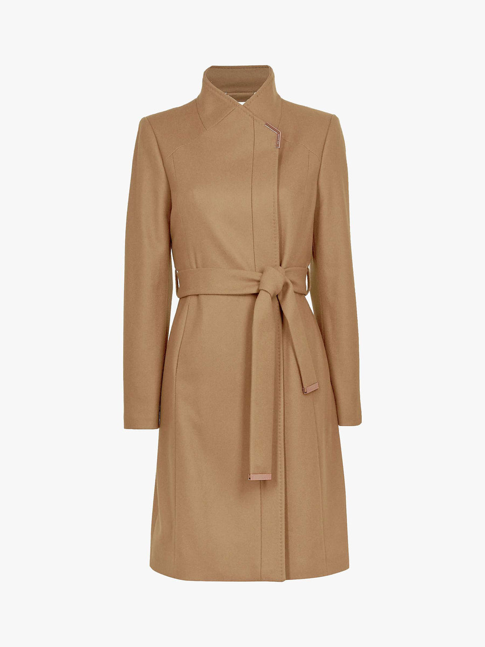 Ellgenc Belted Wool Blend Coat, Camel