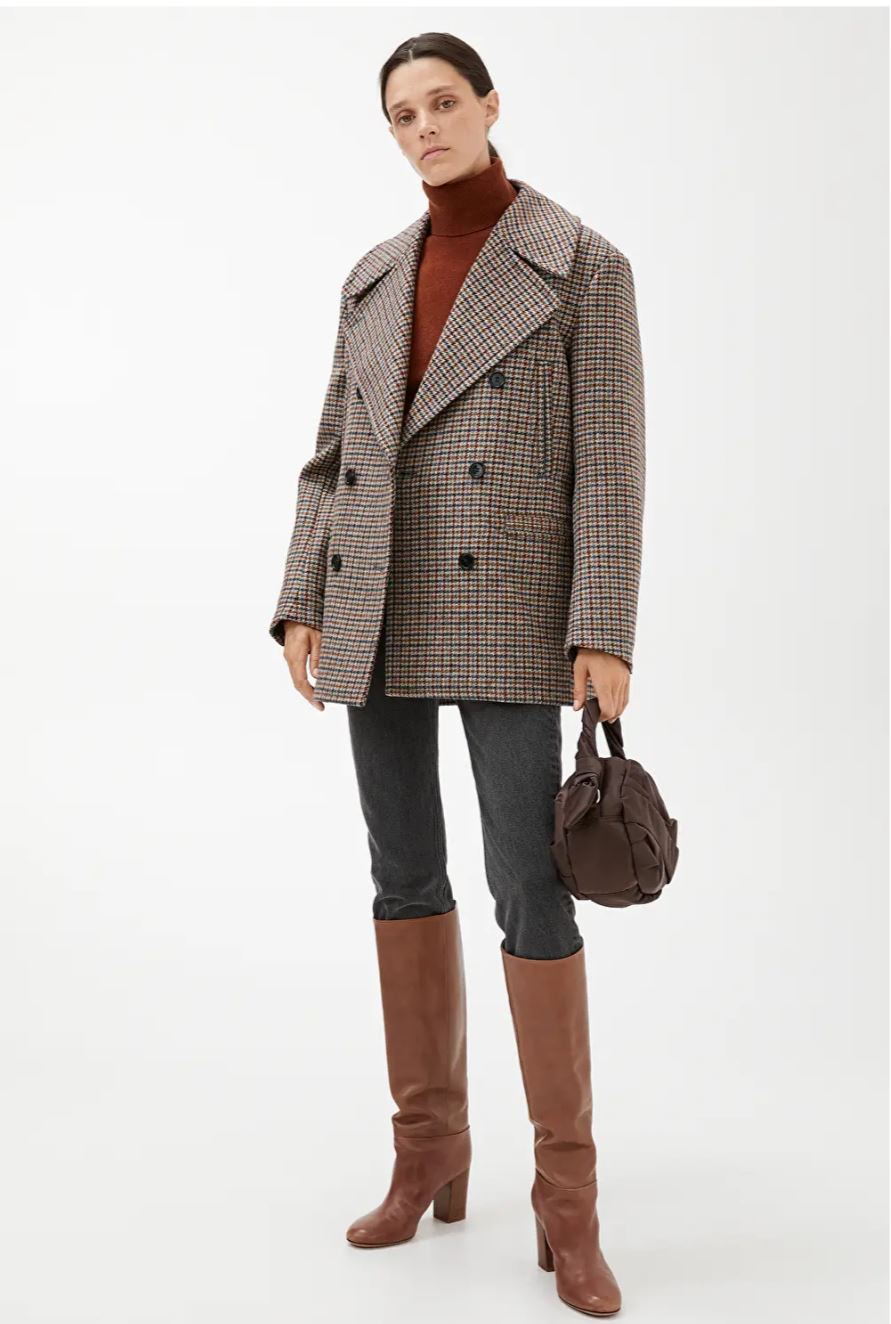 Tweed Pea Coat