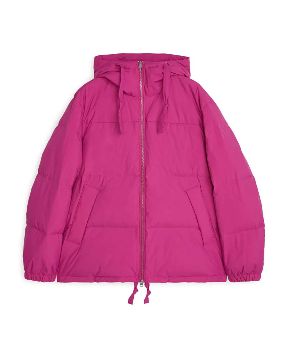 Down Puffer Jacket, Pink