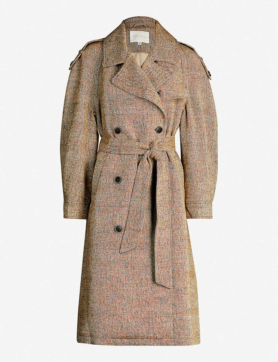 Holmes double-breasted woven coat