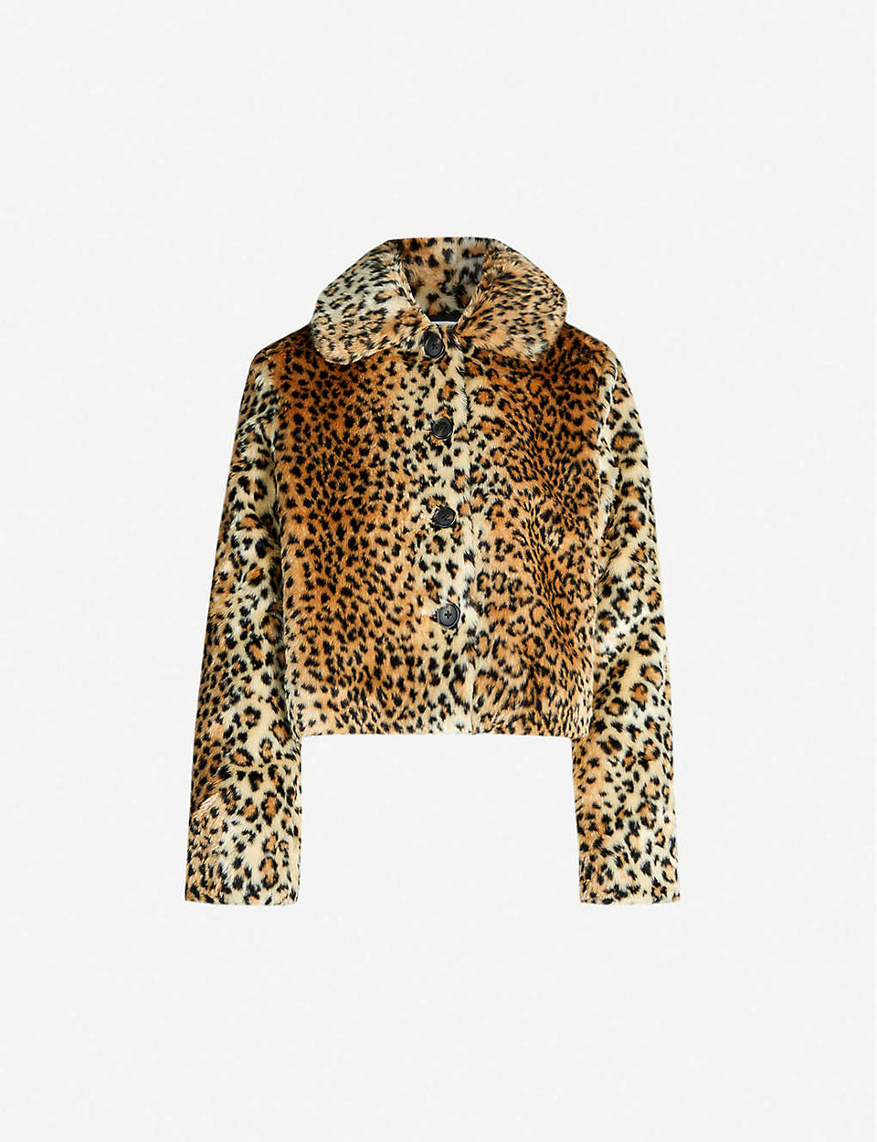 Hampton leopard-print faux-fur coat