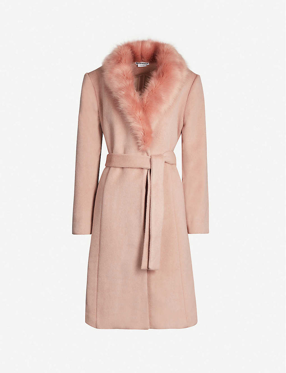 Somerset faux-fur trimmed wool coat