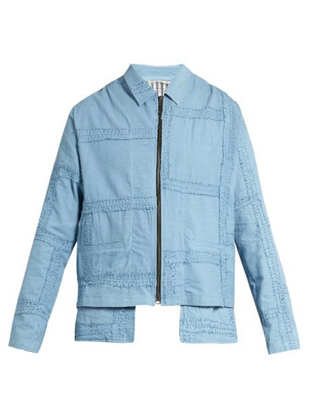 Julien Embroidered Panel-Cotton Jacket
