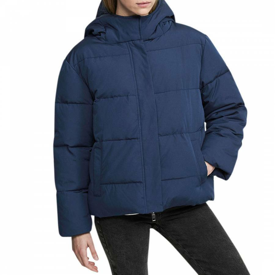 Short-hooded puffer jacket