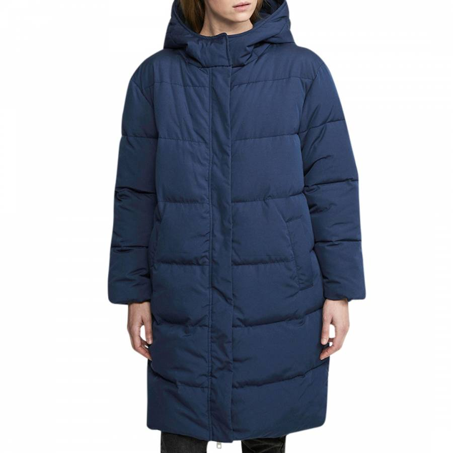Oversized puffer jacket, Blue