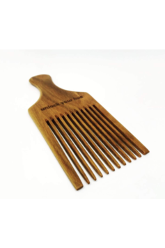 Afro Power Pick Comb - Coating: 10 HERBAL OILS