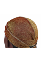 Unisex Shiny Silk Durag w/ Long Tail-Rose Gold