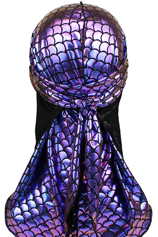 Mermaid Sparkly Durags- Purple