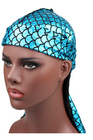 Mermaid Sparkly Durags- Teal