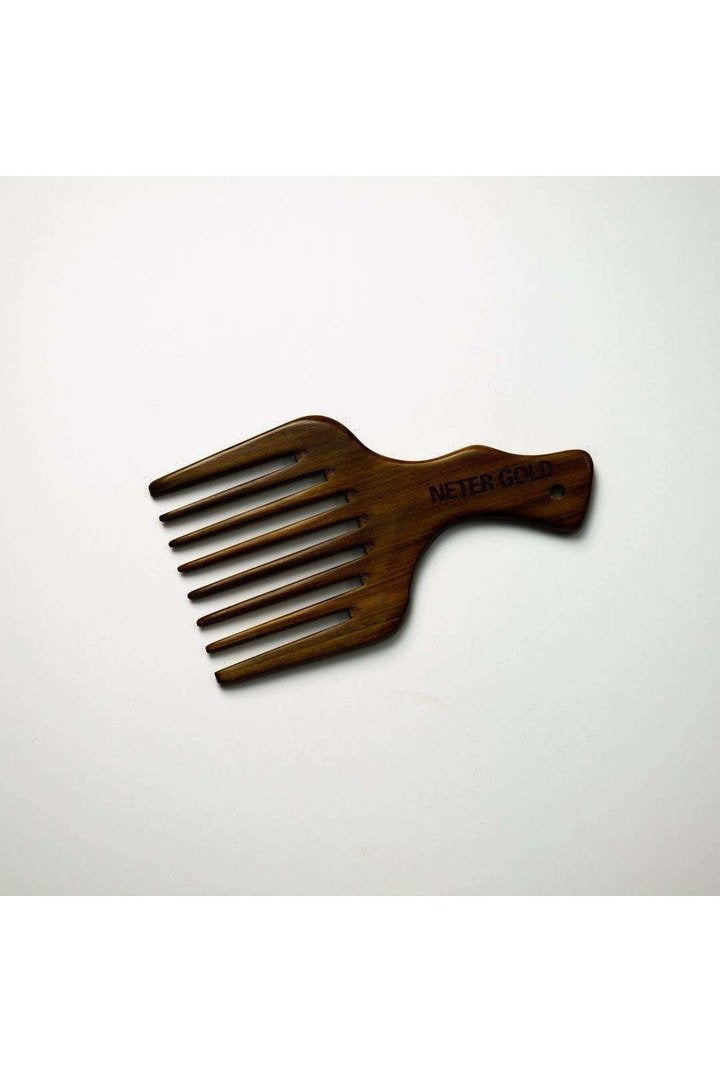 Wooden Thick Hair Pick