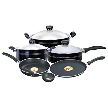 Pigeon by Stovekraft Navratna Non-Stick Gift Set, 9 Pieces