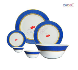 CROCKERYPLANET SOVARNA AMEERAH BLUE33 PCS DINNER SET