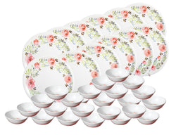 CROCKERYPLANET Plate and Bowl set 36 Pcs.