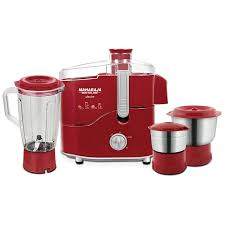 Maharaja Whiteline Desire Red Treasure 550-Watt Juicer Mixer Grinder