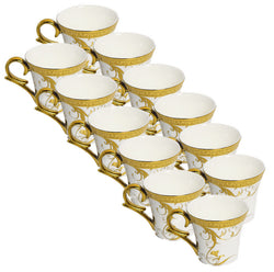 Gold Printed Mug Set of 12 Pcs.