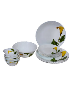 La Opala Amber Lily Dinner Set of 19 Pcs.