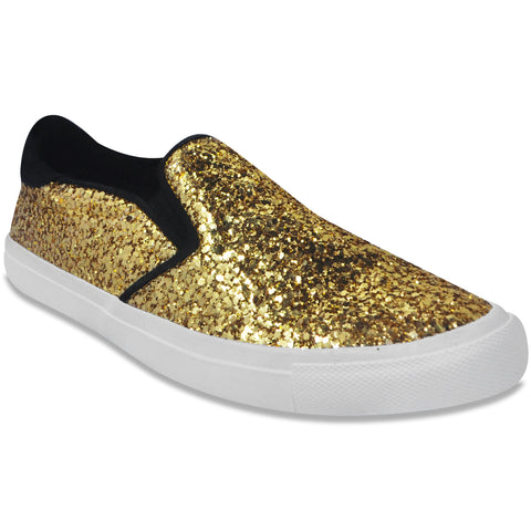 Pointy Sneaker Gold Sequins