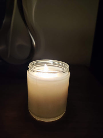 Burning candle for burn tests