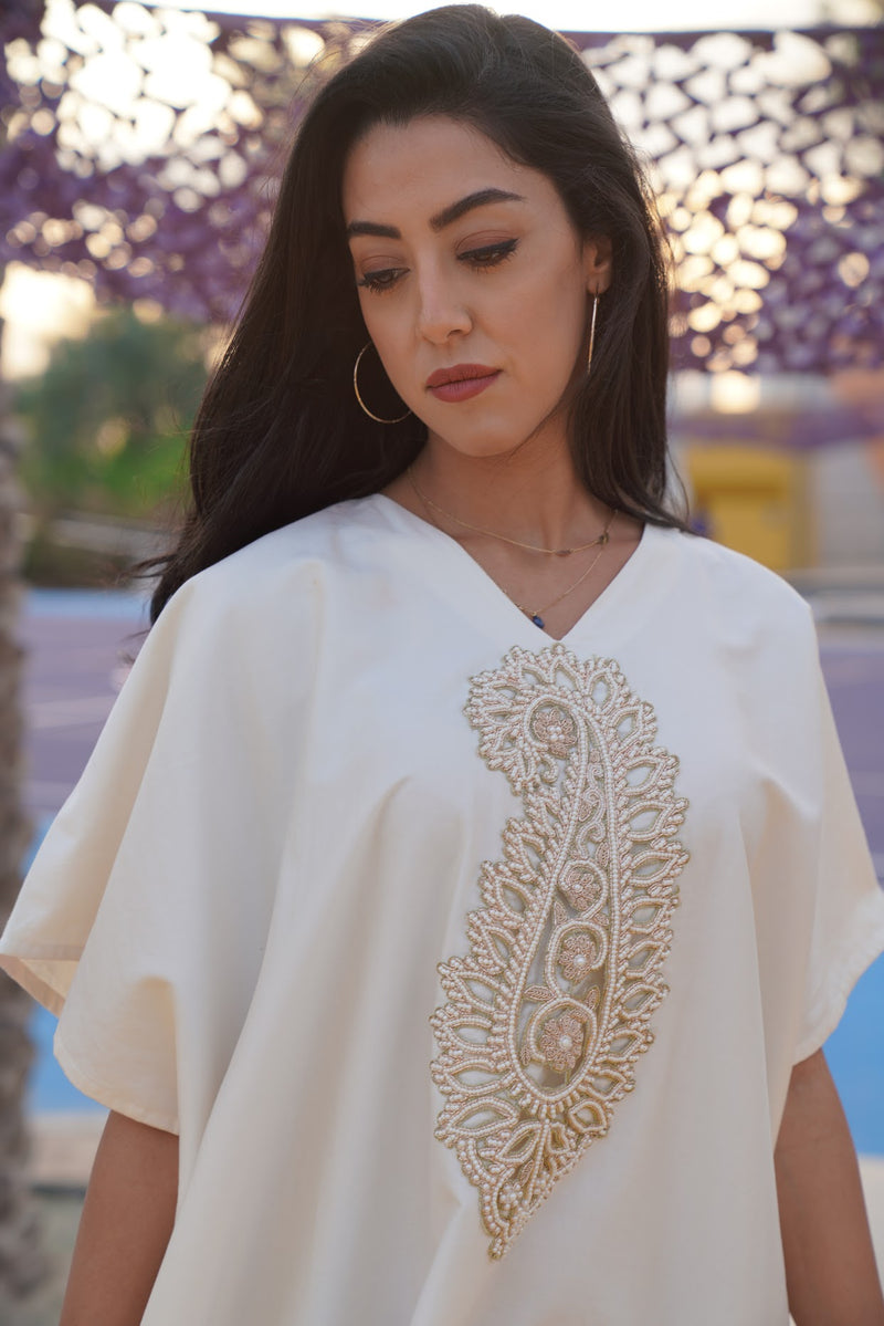 Exclusive Product Sustainable Fashion Abaya Kaftan made of 100% organic Egyptian cotton fair trade style