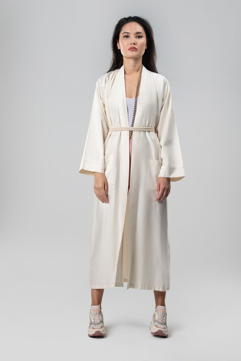 Dress Abaya Sustainable Fashion Organic Cotton Jalabiya Cardigan