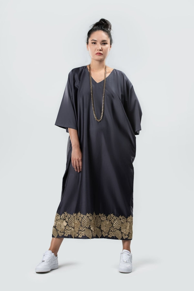 Dress Abaya Sustainable Fashion Organic Cotton Navy