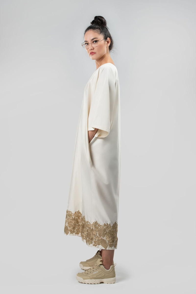 Dress Abaya Sustainable Fashion Organic Cotton Natural Cotton