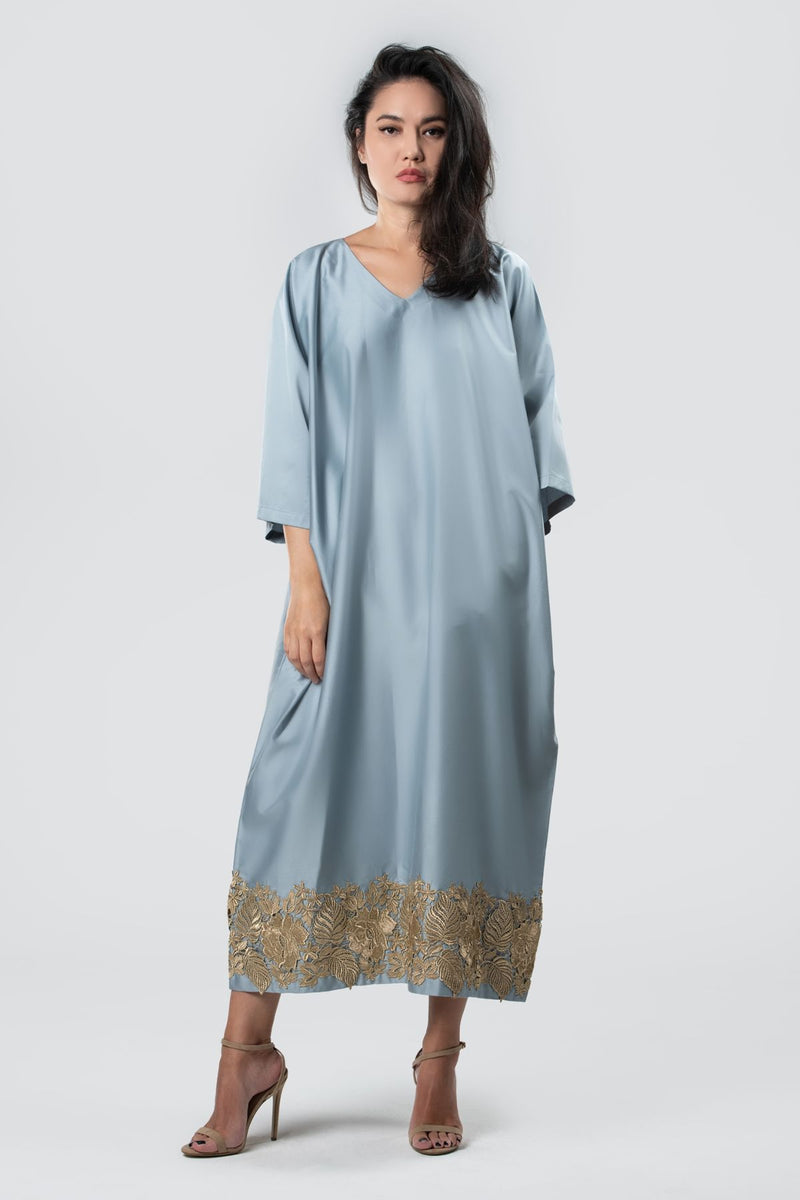 Dress Abaya Sustainable Fashion Organic Cotton Sky Blue