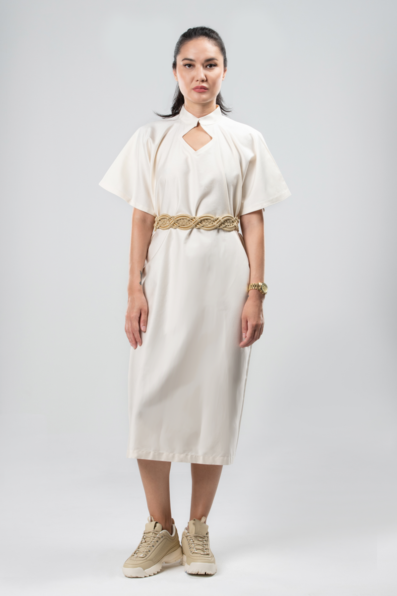 Collared Dress Sustainable Fashion Organic Egyptian Cotton Natural Cotton