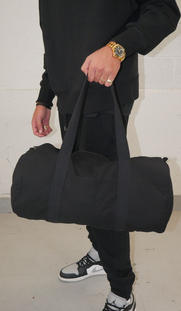 Black Duffle Bag 100% Organic Cotton