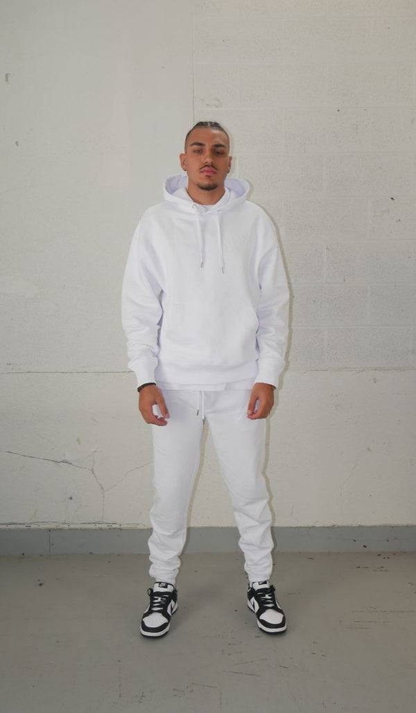 White Hoodie, 100% sustainable
