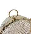 Gold Mesh Round Crossbody Bag - Bags