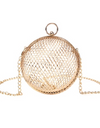 Gold Mesh Round Crossbody Bag - Gold / ONE SIZE ONLY - Bags