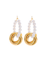 Graceful Family Im Soo-hyang Inspired Earrings 002 - ONE SIZE ONLY / Gold - Earrings