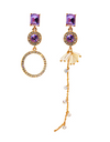 Graceful Family Im Soo-hyang Inspired Earrings 011 - ONE SIZE ONLY / Purple - Earrings