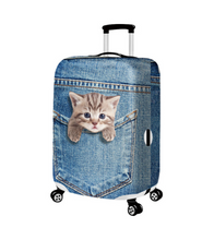 Incredibly Realistic Cat Luggage Dust Cover - Bags