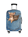 Incredibly Realistic Cat Luggage Dust Cover - Blue / L / Dogs in Jeans Pocket - Bags