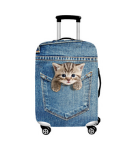Incredibly Realistic Cat Luggage Dust Cover - Blue / L / Cat in Jeans Pocket - Bags