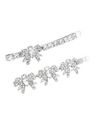 It's Okay To Not Be Okay Seo Ye-ji Inspired Hair Clip 001 - A Pair / 1 Piece of Pattern A + 1 Piece of Pattern B / Silver - Hair Accessories