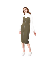 Korean Style Pinafore Dress - Green / S - Dresses