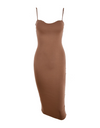 Low Bust Dress - Brown / L - Dresses