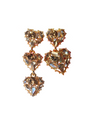 Mirrored Heart Earrings - ONE SIZE ONLY - Earrings