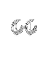 Mother of Mine Kim So Yeon Inspired Earrings 002 - ONE SIZE ONLY / Silver - Earrings