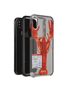 Paperworks Lobster iPhone Case - Black Soft Surface Material / iPhone X - iPhone Case