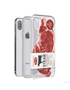 Paperworks Steak iPhone Case - White Soft Surface Material / iPhone 7 - iPhone Case