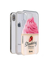 Paperworks Strawberry Froyo iPhone Case - White Soft Surface Material / iPhone X - iPhone Case
