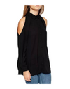 Plus Size Collared Offshoulder Top - Tops
