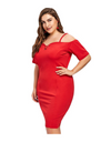 Plus Size Fiery Hot Dress - Dresses