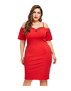 Plus Size Fiery Hot Dress - Red / XL - Dresses